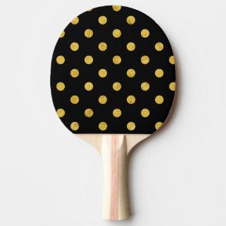 Pala De Ping Pong Modelo de lunar elegante de la hoja del negro y de