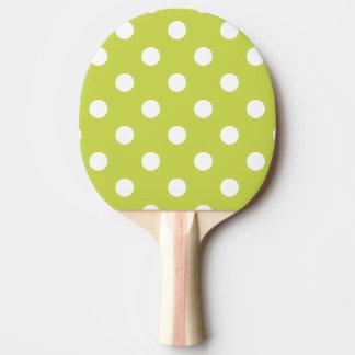 Pala De Ping Pong Modelo de lunar verde