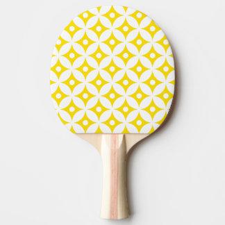 Pala De Ping Pong Modelo de lunares amarillo y blanco moderno del