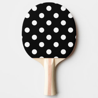 Pala De Ping Pong Modelo de lunares blanco y negro