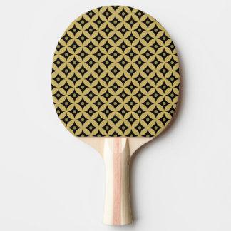Pala De Ping Pong Modelo de lunares elegante del círculo del negro y