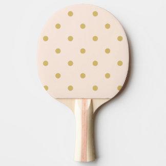 Pala De Ping Pong Modelo de lunares femenino moderno del rosa y del