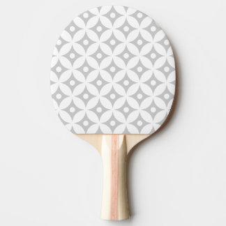 Pala De Ping Pong Modelo de lunares gris y blanco moderno del