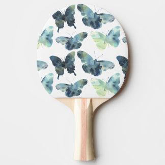 Pala De Ping Pong Modelo de mariposas azulverde artístico de la