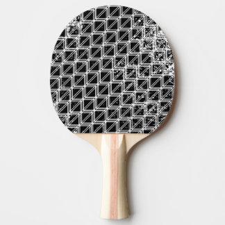 Pala De Ping Pong Modelo de rejilla apenado blanco y negro