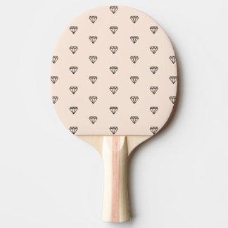 Pala De Ping Pong Modelo elegante lindo del rosa del diamante