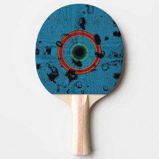 Pala De Ping Pong Modelo multicolor azul de la textura del disco del