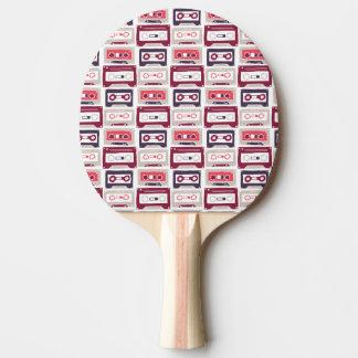 Pala De Ping Pong Modelo retro fresco del vector de los casetes del