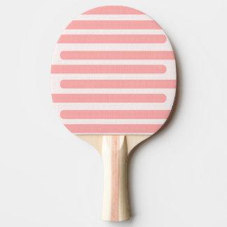 Pala De Ping Pong Modelo rosado y blanco de las rayas