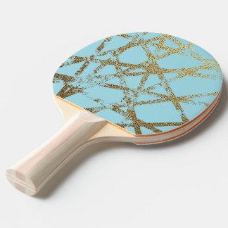 Pala De Ping Pong Moderno, abstracto, pintado a mano, el oro alinea