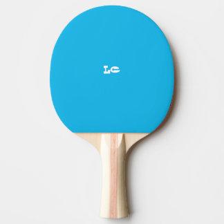 Pala De Ping Pong Monograma del azul de la fiesta en la piscina