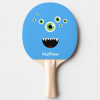 Pala De Ping Pong Monstruo azul lindo loco divertido único