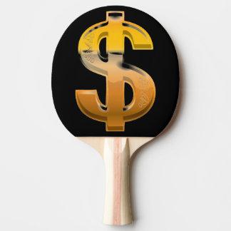 Pala De Ping Pong Muestra de dólar de la pendiente de Brown