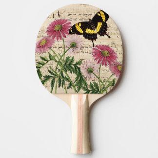 Pala De Ping Pong Música de la mariposa de la margarita