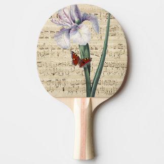 Pala De Ping Pong música del iris y de la mariposa