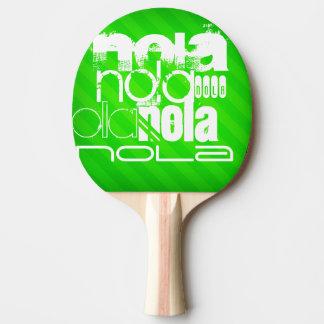 Pala De Ping Pong NOLA; Rayas verdes de neón