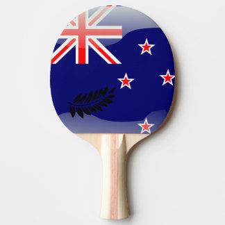 Pala De Ping Pong Nueva Zelanda pulió la bandera