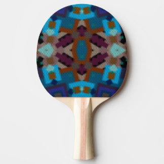 Pala De Ping Pong Ornamento bohemio en ethno-estilo, Azteca
