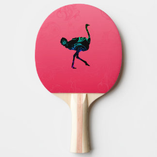 Pala De Ping Pong Paleta abstracta del ping-pong de la avestruz