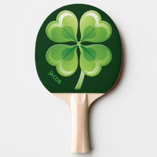 Pala De Ping Pong Paleta afortunada del ping-pong del trébol