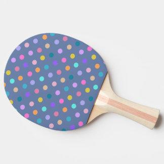 Pala De Ping Pong Paleta azul del ping-pong de la impresión del