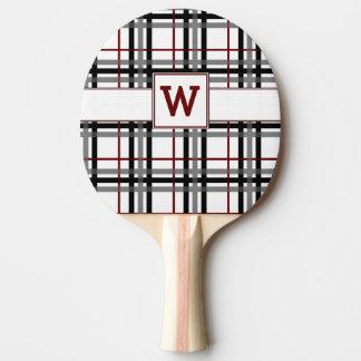 Pala De Ping Pong Paleta blanca y roja negra del ping-pong de la