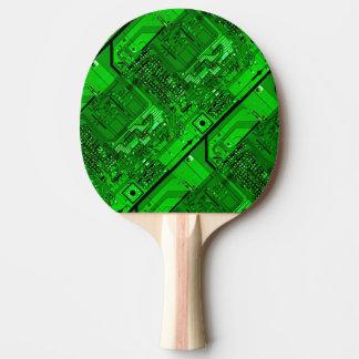 Pala De Ping Pong Paleta de la placa de circuito - verde
