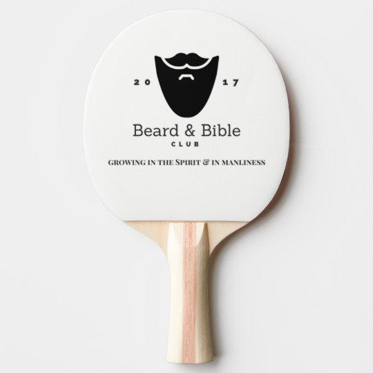 Pala De Ping Pong Paleta del club de la barba y de la biblia