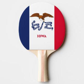 Pala De Ping Pong Paleta del ping-pong con la bandera de Iowa, los