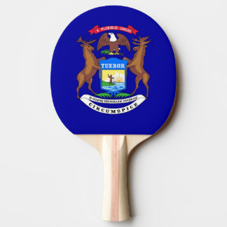 Pala De Ping Pong Paleta del ping-pong con la bandera de Michigan,