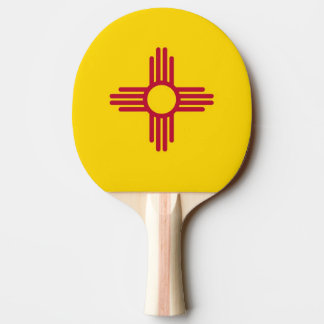 Pala De Ping Pong Paleta del ping-pong con la bandera de New México,
