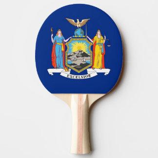 Pala De Ping Pong Paleta del ping-pong con la bandera de Nueva York,
