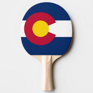 Pala De Ping Pong Paleta del ping-pong con la bandera del estado de