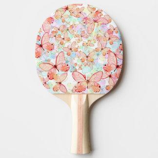 Pala De Ping Pong Paleta del ping-pong de las mariposas de la