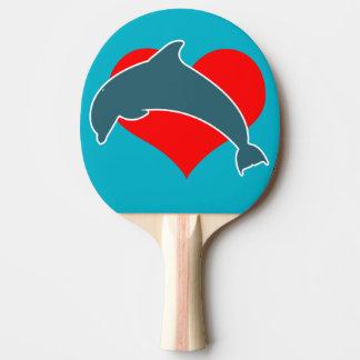 Pala De Ping Pong Paleta del ping-pong de Luv del delfín