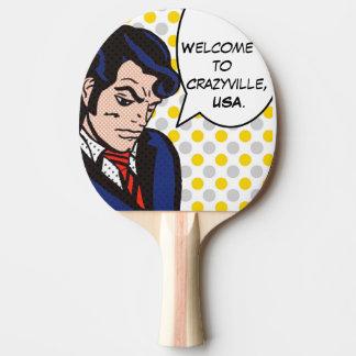 Pala De Ping Pong Paleta del ping-pong del arte pop del hombre del
