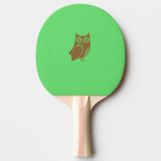 Pala De Ping Pong Paleta del ping-pong del búho de Brown