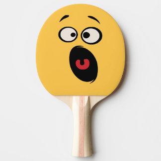 Pala De Ping Pong Paleta divertida asustada del ping-pong de la cara