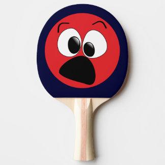 Pala De Ping Pong Paleta divertida roja del ping-pong de la cara