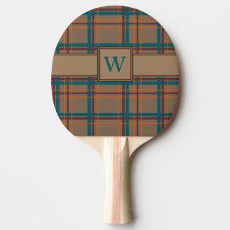 Pala De Ping Pong Paleta elegante del ping-pong de la tela escocesa