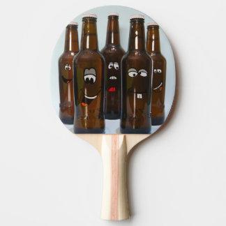Pala De Ping Pong Paleta feliz del ping-pong de las botellas de