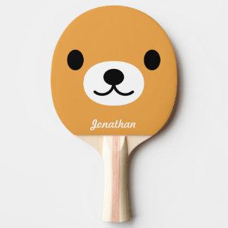 Pala De Ping Pong Paleta linda del ping-pong del oso de los niños