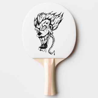 Pala De Ping Pong Paleta malvada del ping-pong del payaso