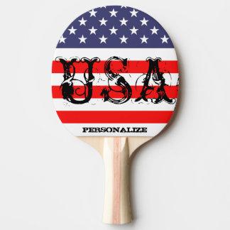 Pala De Ping Pong Paleta patriótica del ping-pong de los E.E.U.U.