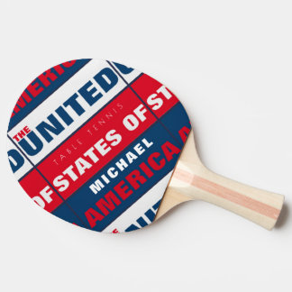 Pala De Ping Pong paleta patriótica fresca de los table_tennis con