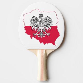 Pala De Ping Pong Paleta polaca del ping-pong de la bandera del mapa