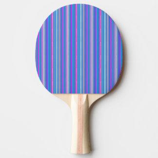 Pala De Ping Pong paleta rayada rosada azul del ping-pong