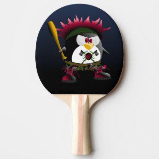 Pala De Ping Pong Paleta roja del ping-pong del pingüino de la