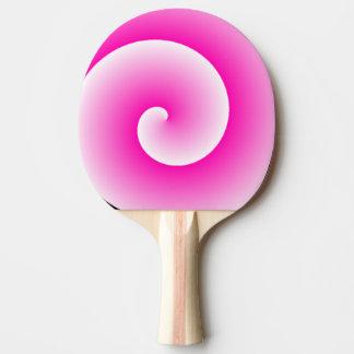 Pala De Ping Pong Paleta rosada del ping-pong del remolino del