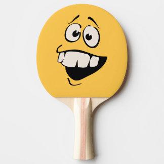 Pala De Ping Pong Paleta sonriente del silbido de bala de la cara de